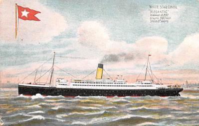 shp010811 - White Star Line Cunard Ship Post Card, Old Vintage Antique Postcard