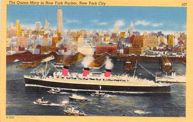 shp010815 - White Star Line Cunard Ship Post Card, Old Vintage Antique Postcard