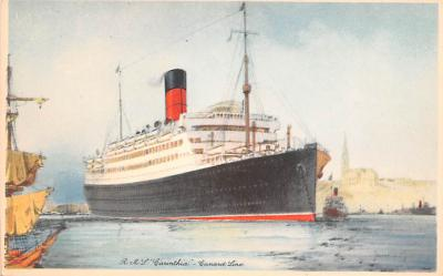 shp010817 - White Star Line Cunard Ship Post Card, Old Vintage Antique Postcard