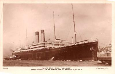 shp010825 - White Star Line Cunard Ship Post Card, Old Vintage Antique Postcard