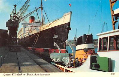 shp010831 - White Star Line Cunard Ship Post Card, Old Vintage Antique Postcard