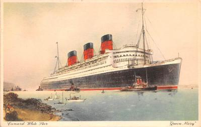 shp010833 - White Star Line Cunard Ship Post Card, Old Vintage Antique Postcard