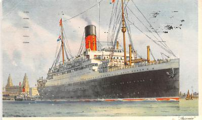 shp010837 - White Star Line Cunard Ship Post Card, Old Vintage Antique Postcard