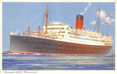 shp010843 - White Star Line Cunard Ship Post Card, Old Vintage Antique Postcard