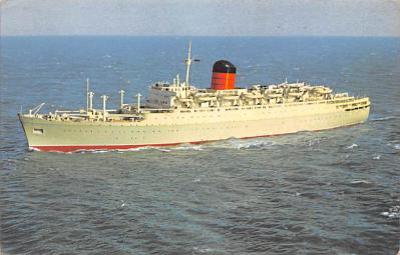shp010853 - White Star Line Cunard Ship Post Card, Old Vintage Antique Postcard