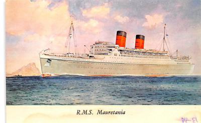 shp010855 - White Star Line Cunard Ship Post Card, Old Vintage Antique Postcard