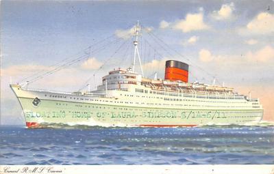 shp010857 - White Star Line Cunard Ship Post Card, Old Vintage Antique Postcard