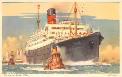 shp010861 - White Star Line Cunard Ship Post Card, Old Vintage Antique Postcard