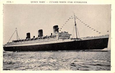 shp010863 - White Star Line Cunard Ship Post Card, Old Vintage Antique Postcard