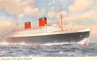 shp010865 - White Star Line Cunard Ship Post Card, Old Vintage Antique Postcard