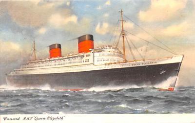 shp010867 - White Star Line Cunard Ship Post Card, Old Vintage Antique Postcard