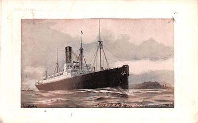 shp010869 - White Star Line Cunard Ship Post Card, Old Vintage Antique Postcard