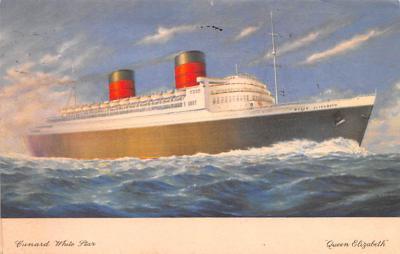 shp010871 - White Star Line Cunard Ship Post Card, Old Vintage Antique Postcard