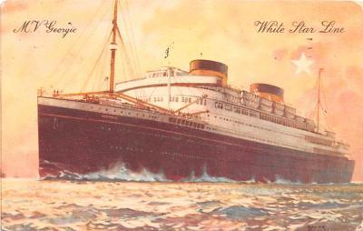 shp010873 - White Star Line Cunard Ship Post Card, Old Vintage Antique Postcard