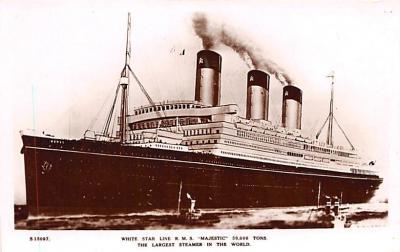 shp010883 - White Star Line Cunard Ship Post Card, Old Vintage Antique Postcard
