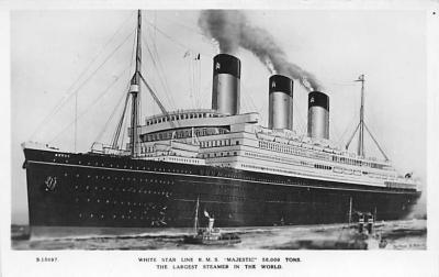 shp010885 - White Star Line Cunard Ship Post Card, Old Vintage Antique Postcard