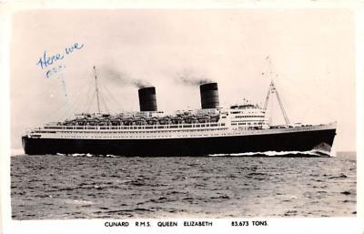 shp010887 - White Star Line Cunard Ship Post Card, Old Vintage Antique Postcard