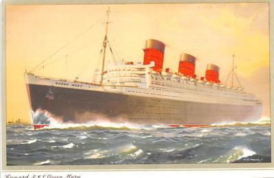 shp010891 - White Star Line Cunard Ship Post Card, Old Vintage Antique Postcard