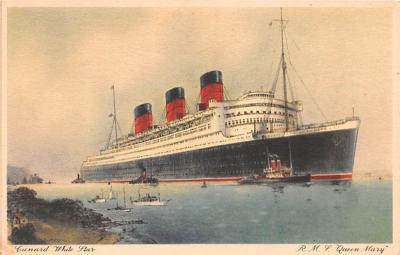 shp010893 - White Star Line Cunard Ship Post Card, Old Vintage Antique Postcard