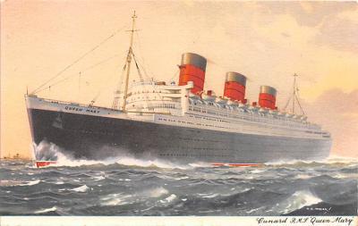 shp010895 - White Star Line Cunard Ship Post Card, Old Vintage Antique Postcard