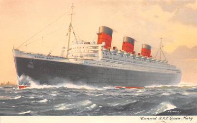 shp010897 - White Star Line Cunard Ship Post Card, Old Vintage Antique Postcard