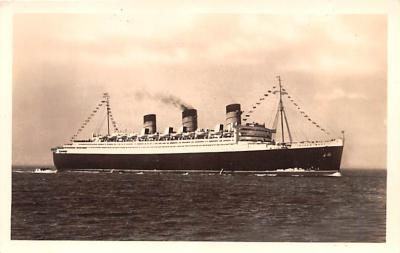 shp010915 - White Star Line Cunard Ship Post Card, Old Vintage Antique Postcard