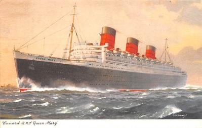 shp010919 - White Star Line Cunard Ship Post Card, Old Vintage Antique Postcard