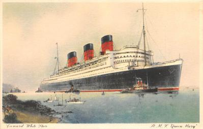 shp010943 - White Star Line Cunard Ship Post Card, Old Vintage Antique Postcard