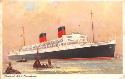 shp010949 - White Star Line Cunard Ship Post Card, Old Vintage Antique Postcard