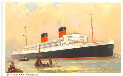 shp010955 - White Star Line Cunard Ship Post Card, Old Vintage Antique Postcard