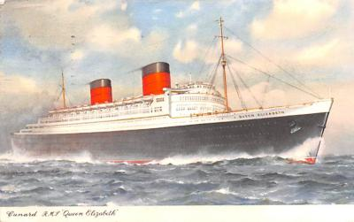 shp010957 - White Star Line Cunard Ship Post Card, Old Vintage Antique Postcard