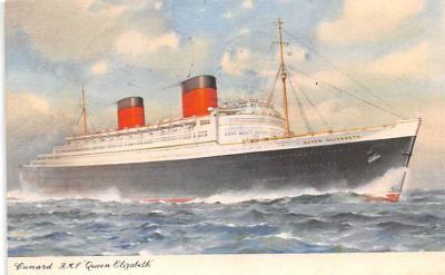 shp010959 - White Star Line Cunard Ship Post Card, Old Vintage Antique Postcard