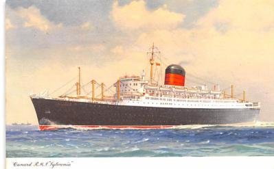 shp010961 - White Star Line Cunard Ship Post Card, Old Vintage Antique Postcard