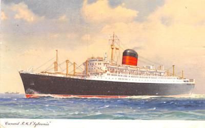 shp010963 - White Star Line Cunard Ship Post Card, Old Vintage Antique Postcard