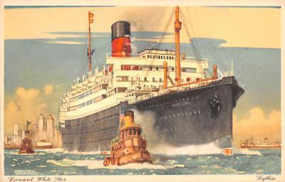 shp010965 - White Star Line Cunard Ship Post Card, Old Vintage Antique Postcard