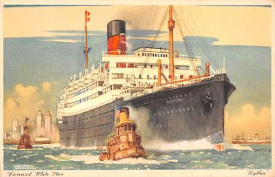 shp010967 - White Star Line Cunard Ship Post Card, Old Vintage Antique Postcard