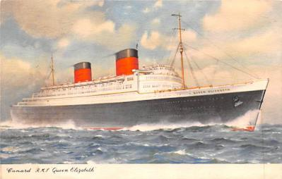 shp010973 - White Star Line Cunard Ship Post Card, Old Vintage Antique Postcard