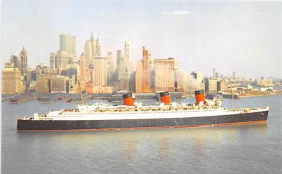 shp010975 - White Star Line Cunard Ship Post Card, Old Vintage Antique Postcard