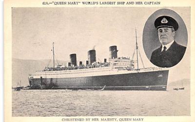 shp010977 - White Star Line Cunard Ship Post Card, Old Vintage Antique Postcard
