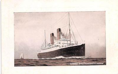 shp010979 - White Star Line Cunard Ship Post Card, Old Vintage Antique Postcard