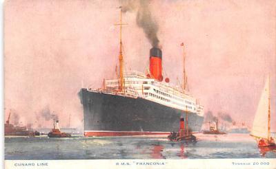 shp010981 - White Star Line Cunard Ship Post Card, Old Vintage Antique Postcard
