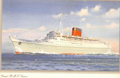 shp010983 - White Star Line Cunard Ship Post Card, Old Vintage Antique Postcard