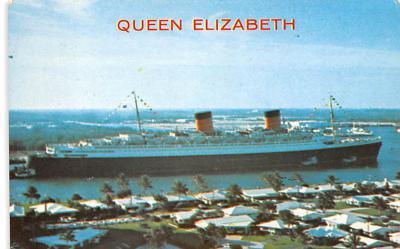 shp010985 - White Star Line Cunard Ship Post Card, Old Vintage Antique Postcard