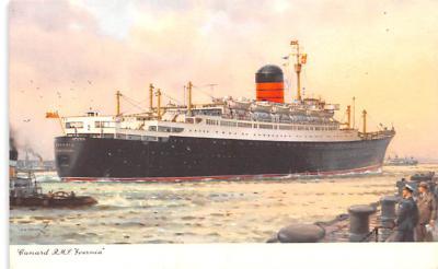 shp010987 - White Star Line Cunard Ship Post Card, Old Vintage Antique Postcard