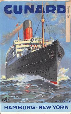 shp010991 - White Star Line Cunard Ship Post Card, Old Vintage Antique Postcard