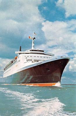 shp010993 - White Star Line Cunard Ship Post Card, Old Vintage Antique Postcard