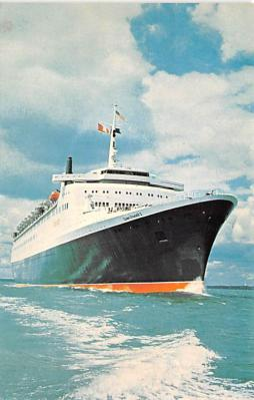 shp010995 - White Star Line Cunard Ship Post Card, Old Vintage Antique Postcard