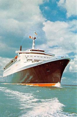 shp010999 - White Star Line Cunard Ship Post Card, Old Vintage Antique Postcard