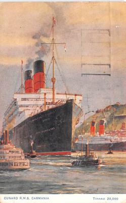 shp011003 - White Star Line Cunard Ship Post Card, Old Vintage Antique Postcard