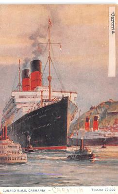 shp011011 - White Star Line Cunard Ship Post Card, Old Vintage Antique Postcard